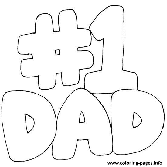 picture relating to Number One Printable titled Variety Just one Father Fathers Working day Coloring Internet pages Printable