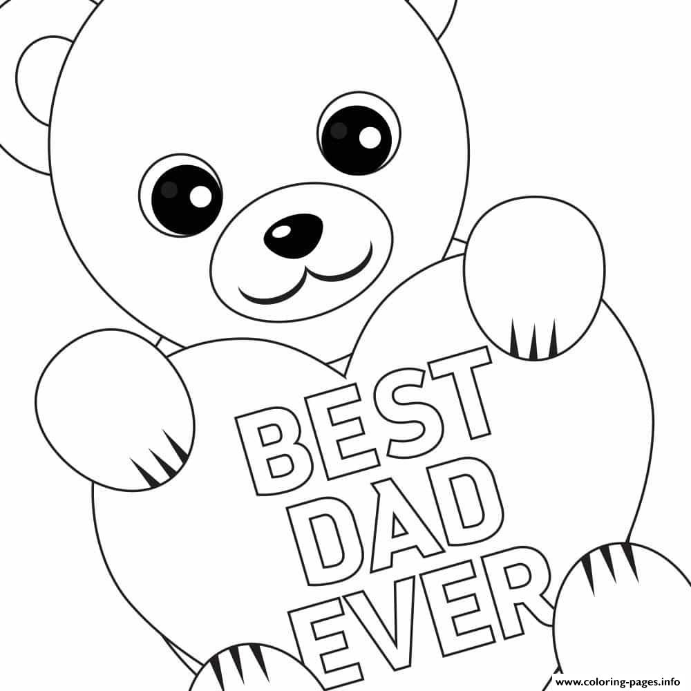 Free Fathers Day Printable Best Dad  coloring pages