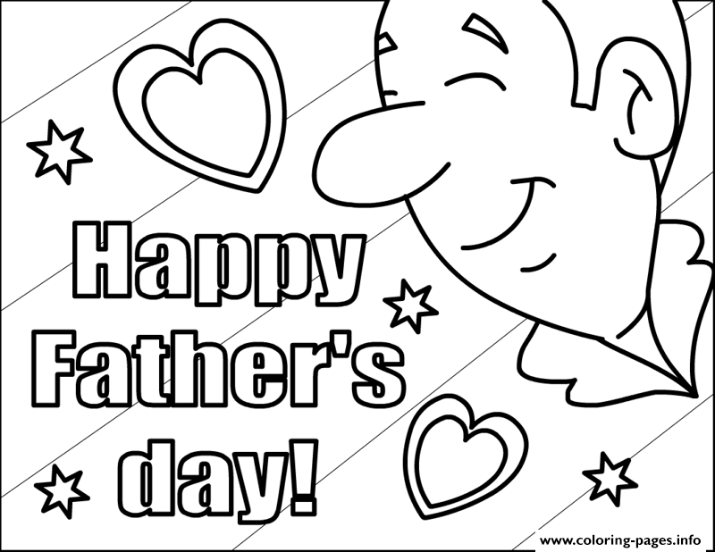 Happy Fathers Day For Kids coloring pages