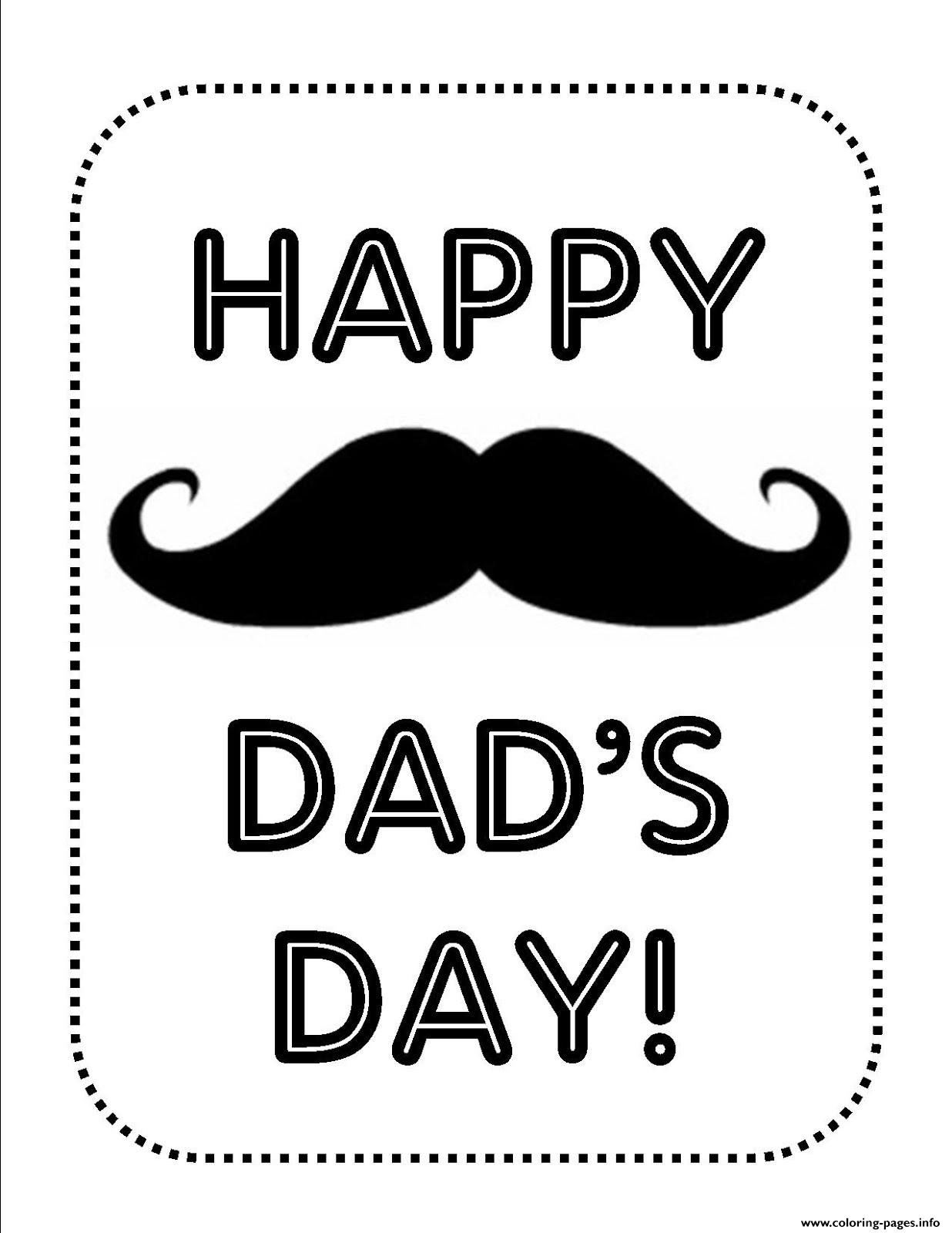 Fathers Day Whiskers coloring pages