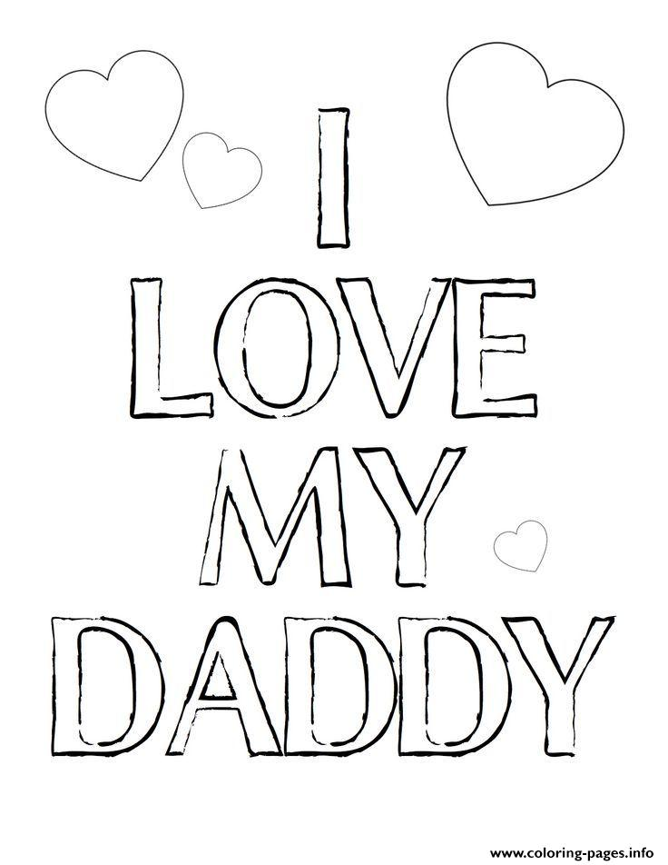 I Love My Daddy Fathers Day coloring pages