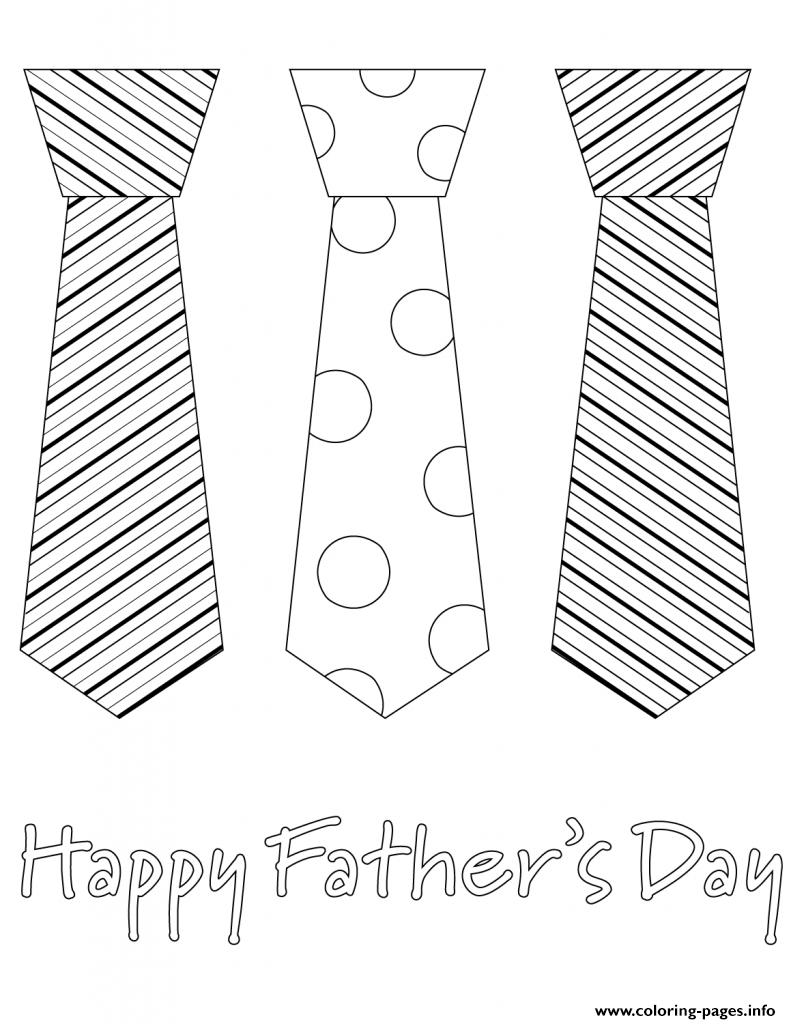 Fathers Day Tie Necktie coloring pages