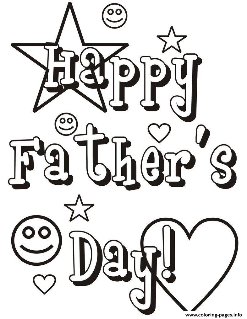 Happy Fathers Day Daddy coloring pages