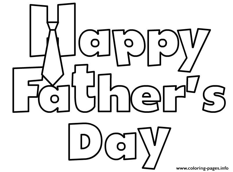 Happy Fathers Day Sheet coloring pages