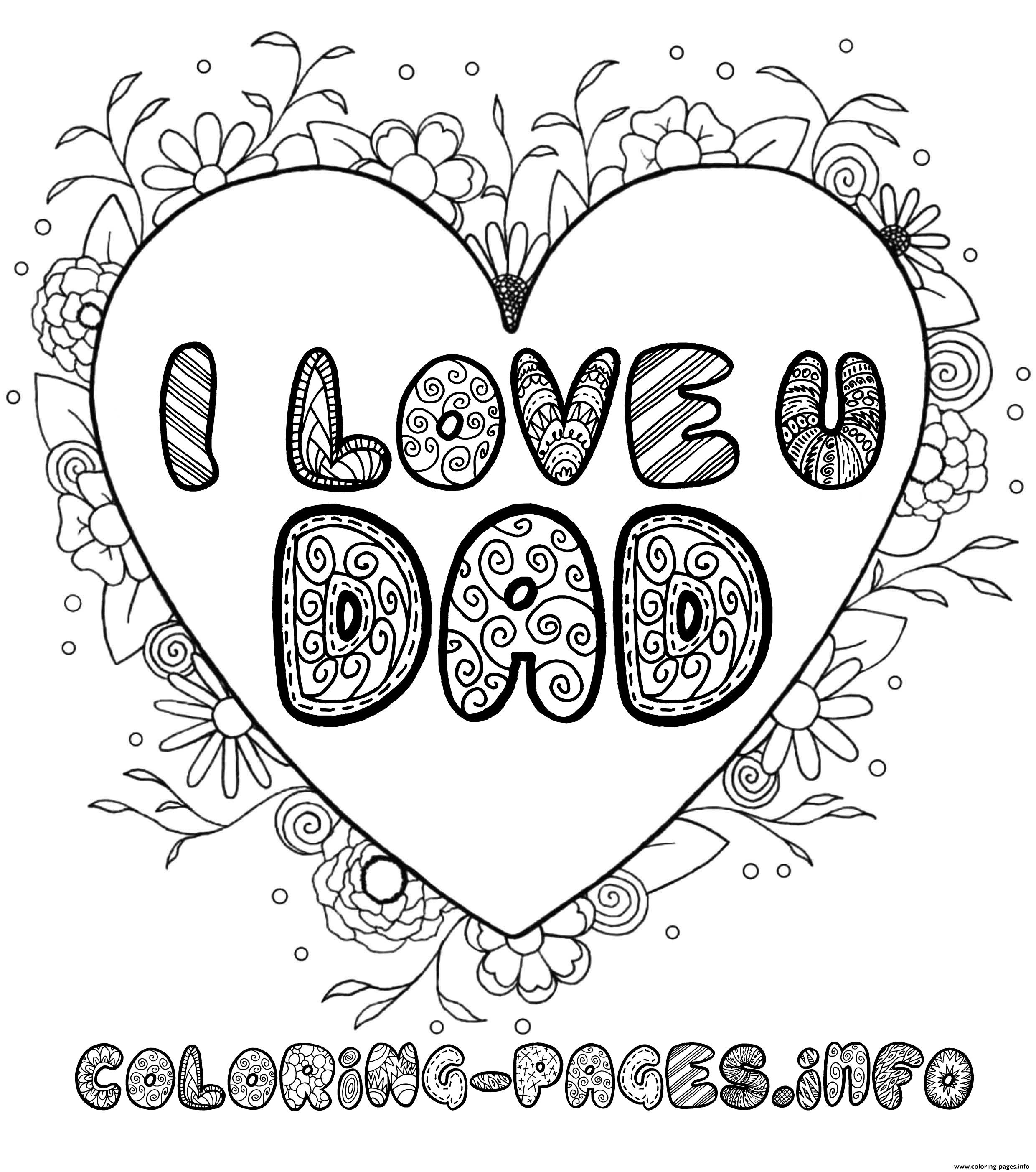 love daddy coloring pages - photo#23
