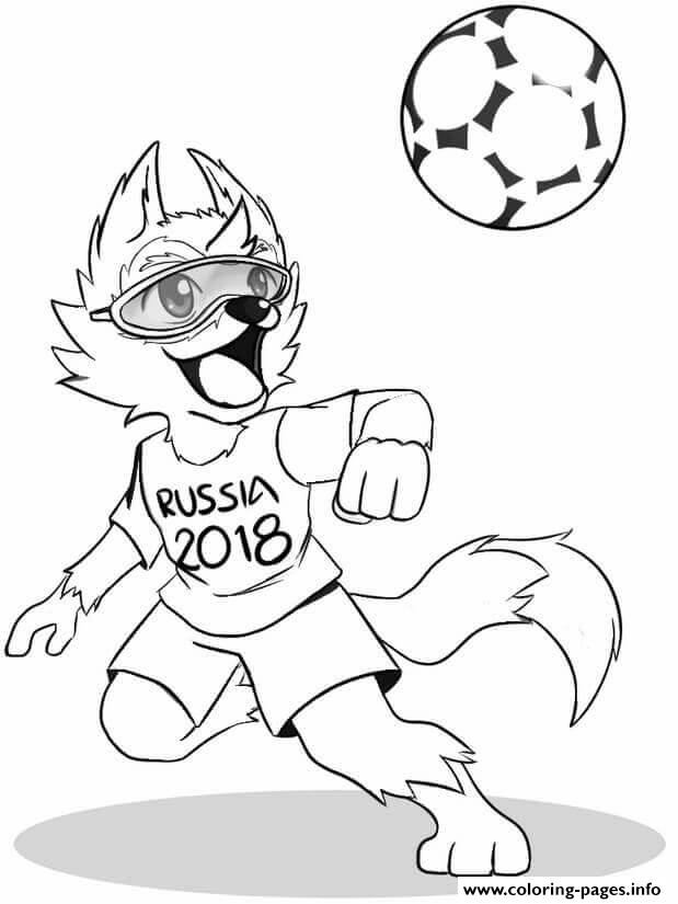 FIFA World Cup 2018 Russia Mascot Coloring Pages Printable