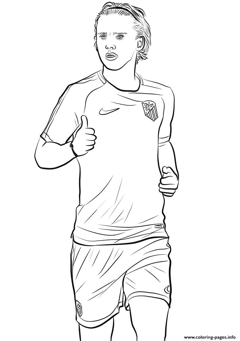 antoine griezmann fifa world cup football coloring pages