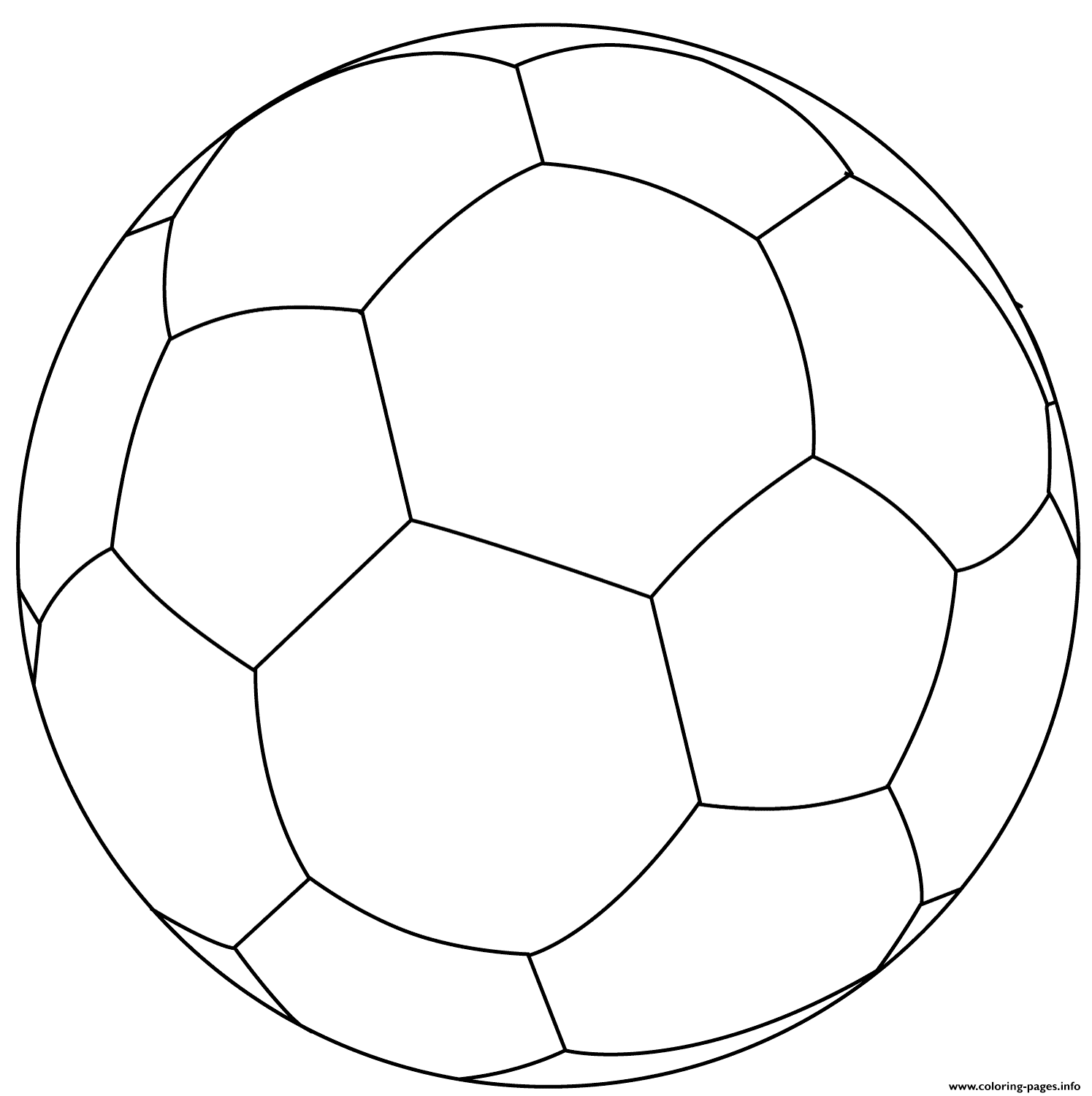 Football Ball Soccer Coloring Pages Printable