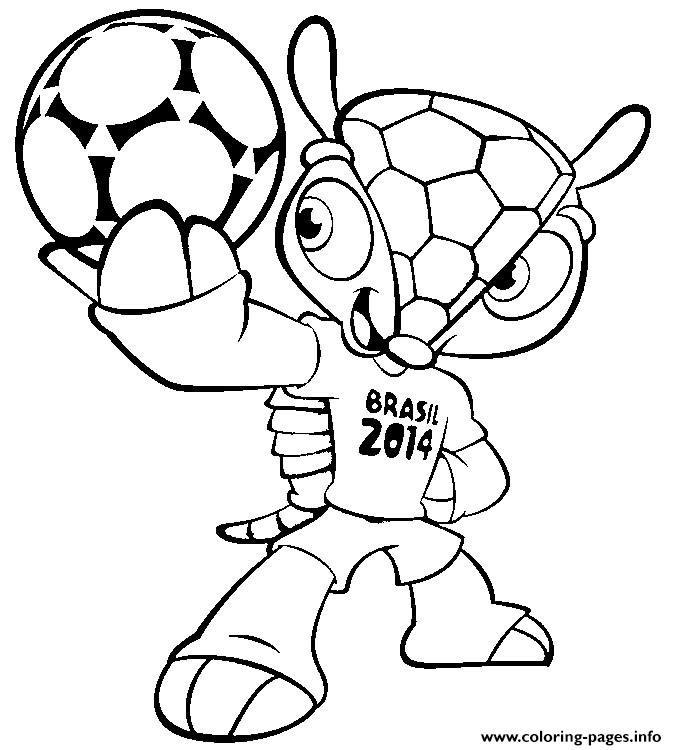 fifa 2014 coloring pages - photo#4