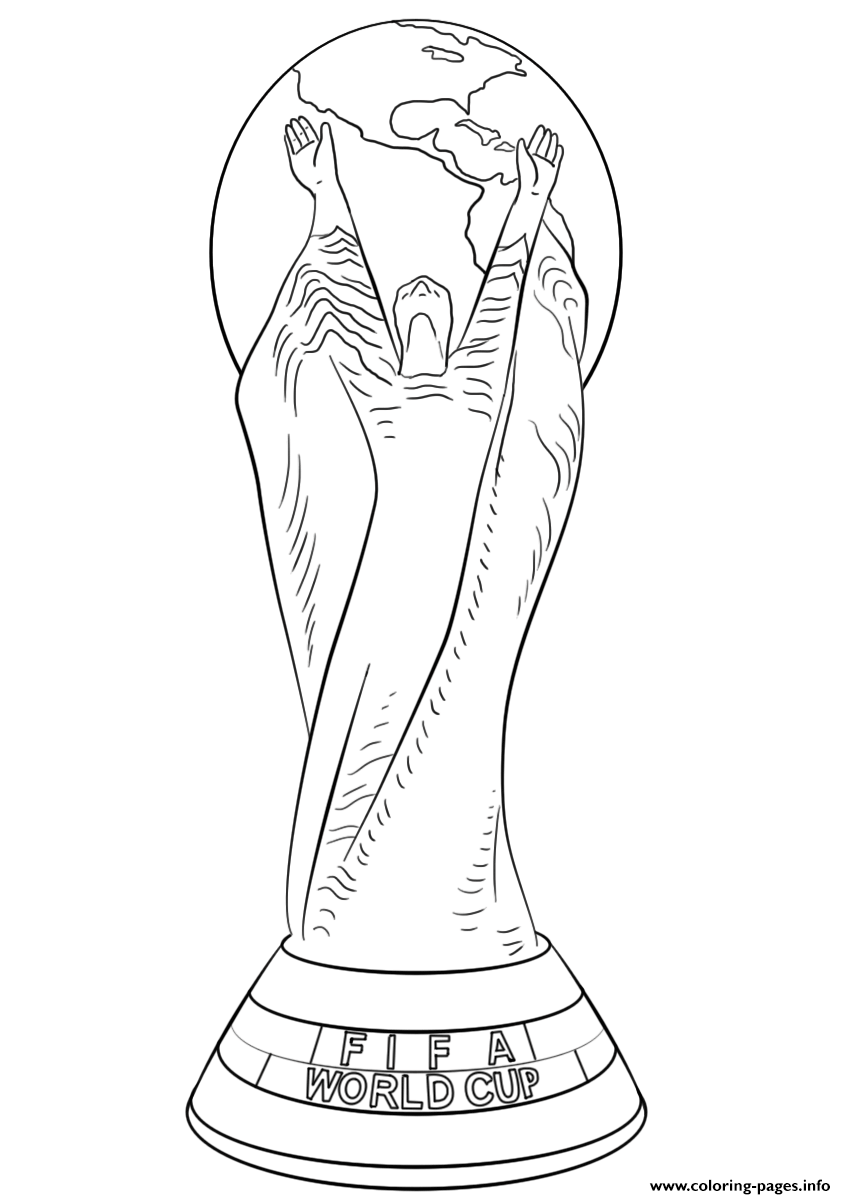 Fifa World Cup Football Trophy Coloring Pages Printable
