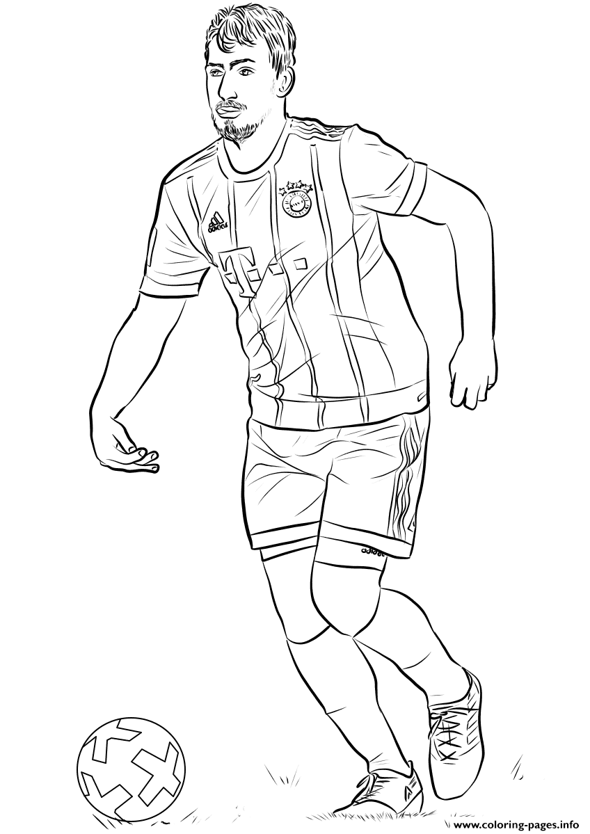 Mats Hummels Fifa World Cup Football Coloring Pages Printable