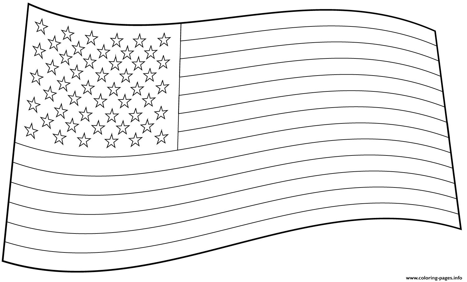 Usa Flag coloring pages