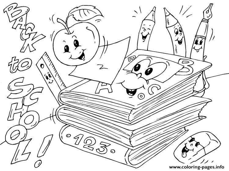 Back To School Books coloring pages