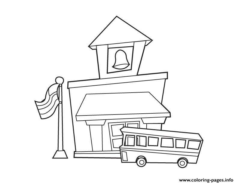 School House Back To School coloring pages