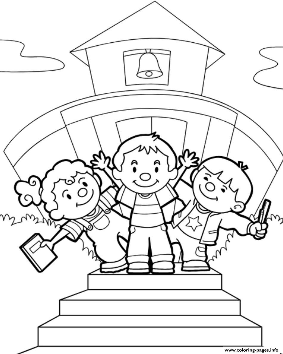 Back To School September Kids Coloring Pages Printable