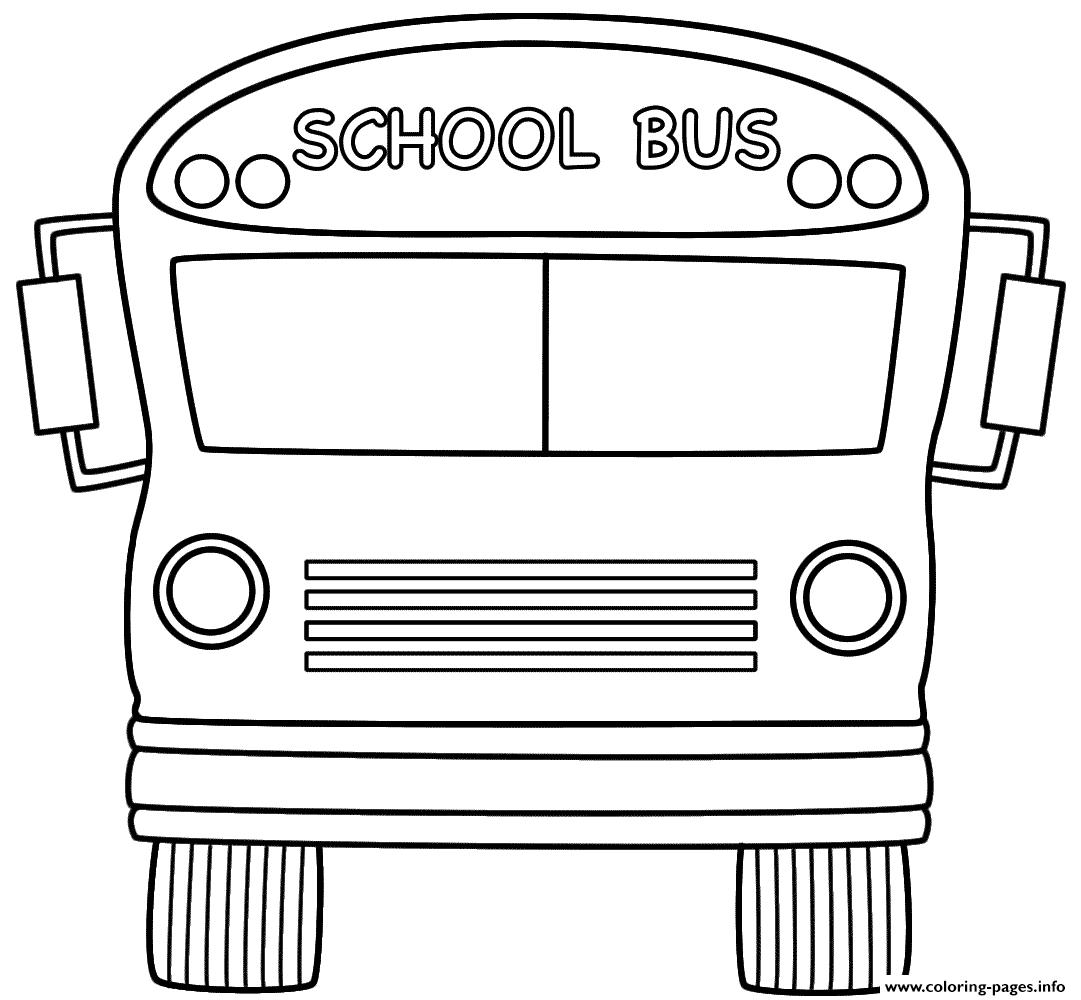 School Bus Back To School coloring pages