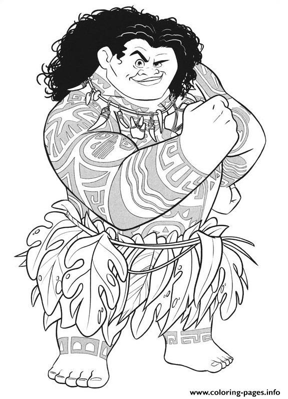 Maui Strong Moana Coloring Pages Printable