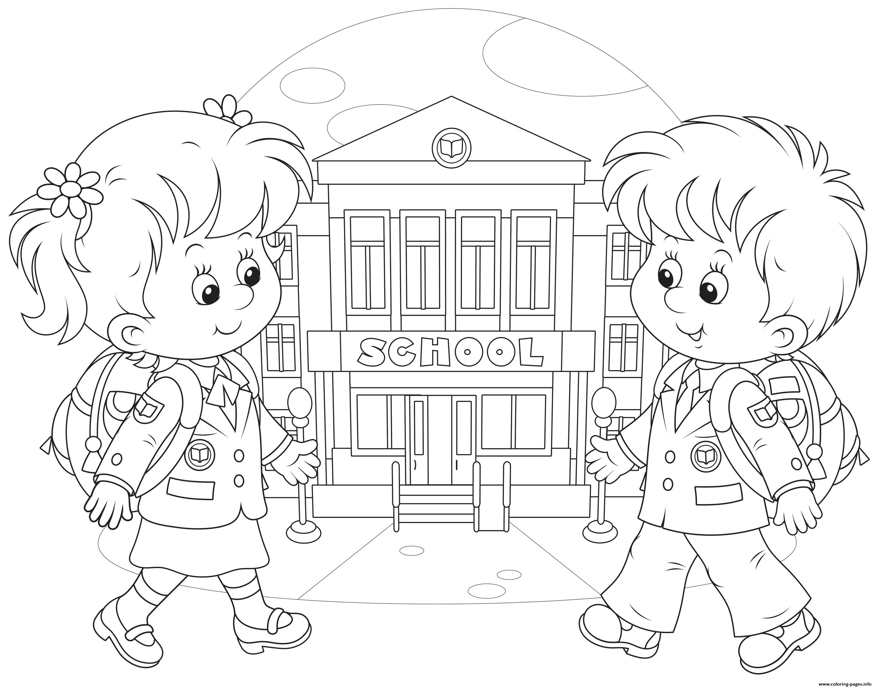 Back To School Kids Coloring Pages