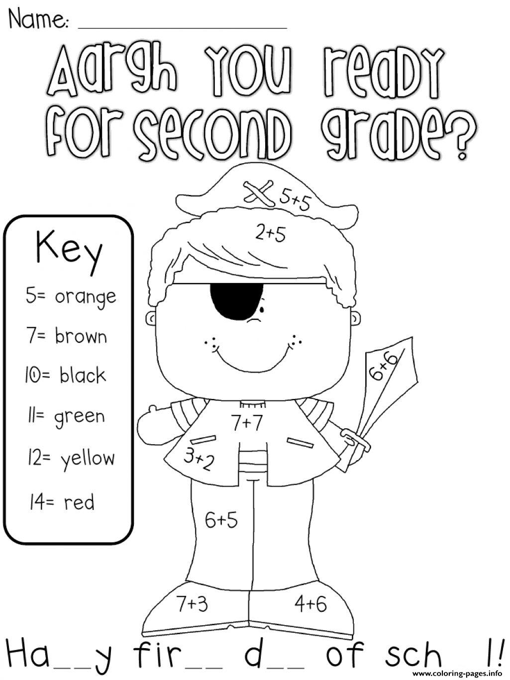 Are You Ready For Second Grade coloring pages