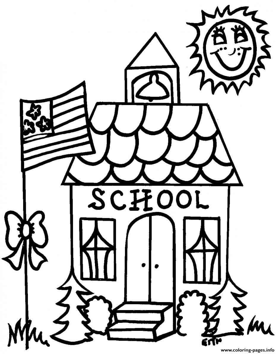Regarding Preschool Back School Coloring Pages Printable