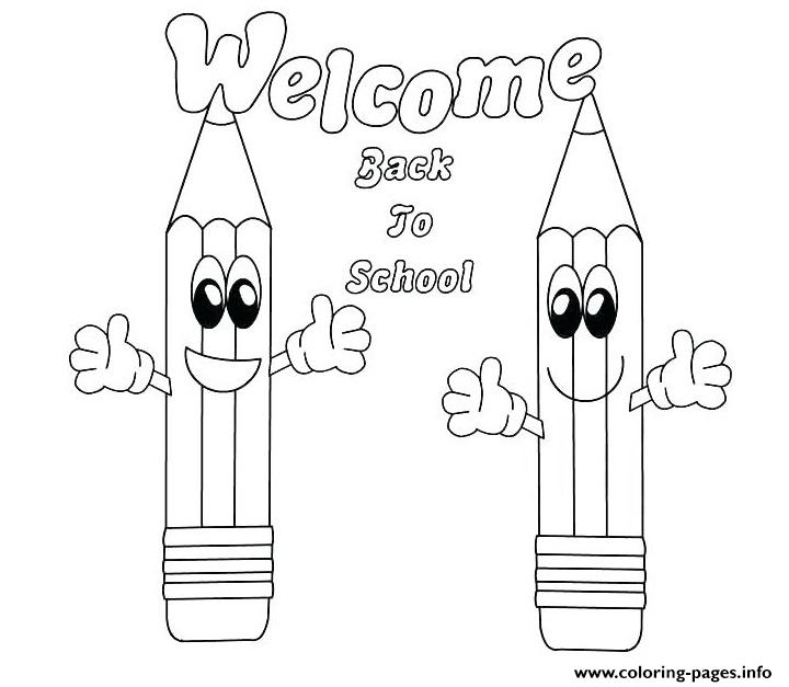 welcome back to school coloring pages printable
