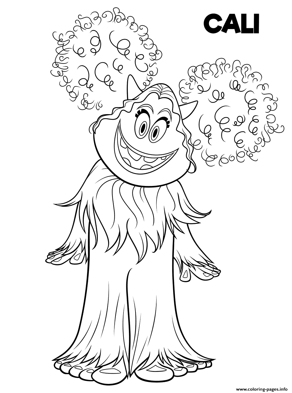 Smallfoot Cali Cute Yet coloring pages