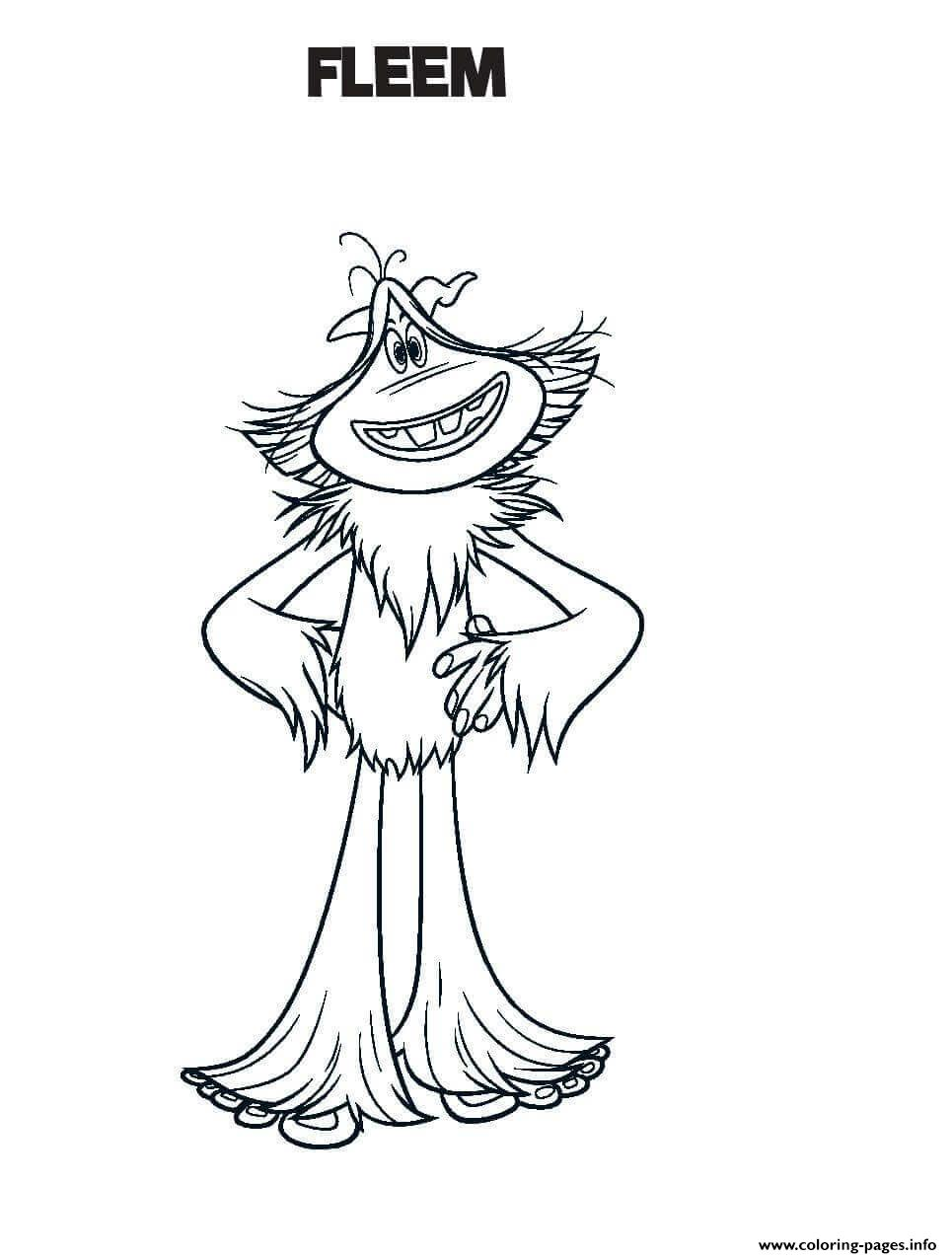 Smallfoot Fleem Coloring Pages Printable