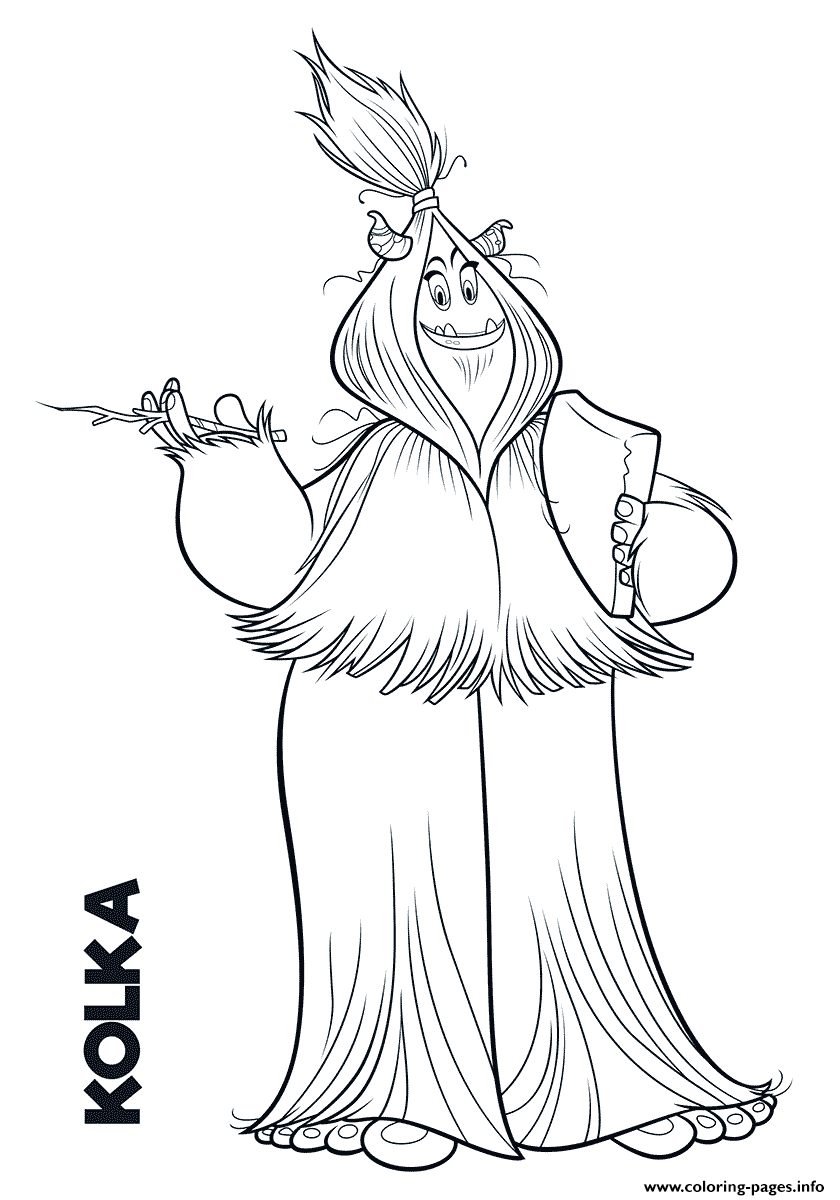 Yeti From Smallfoot Kolka Coloring Pages Printable