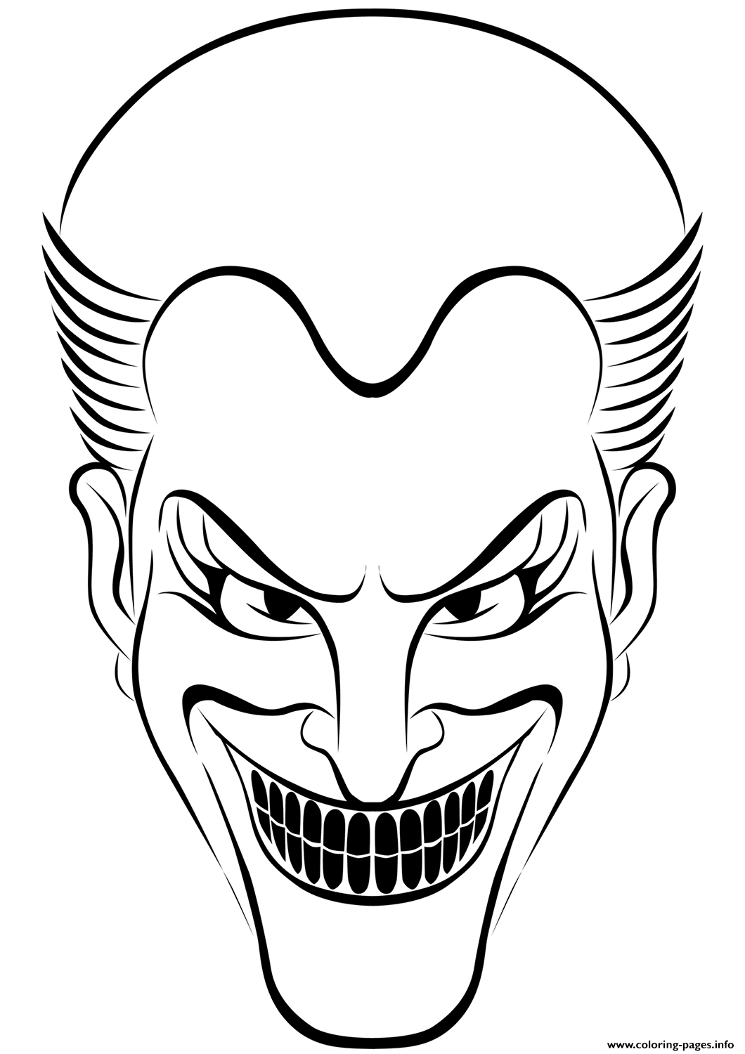 Joker Halloween Coloring Pages Printable