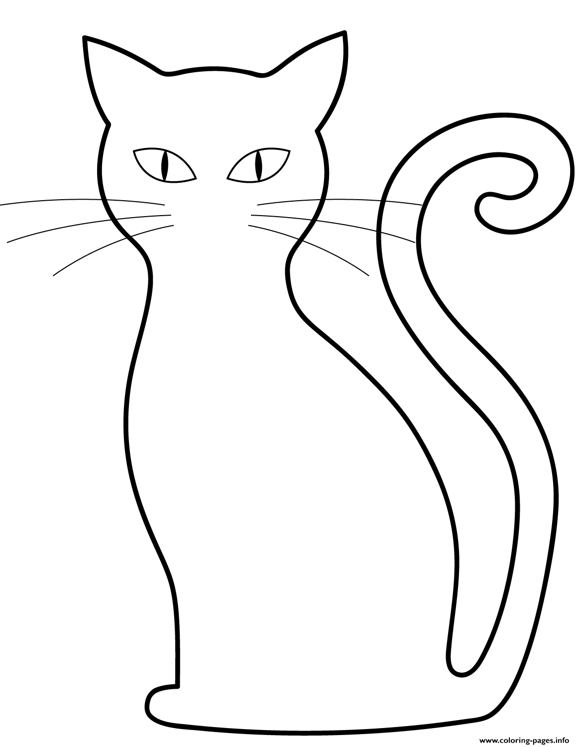Black Cat Halloween Coloring Pages Printable
