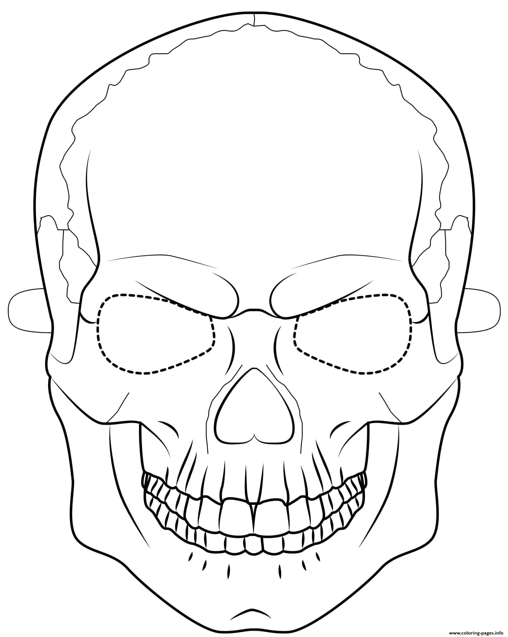 Halloween mask coloring pages ~ Halloween Mask Coloring Sheets Coloring Pages