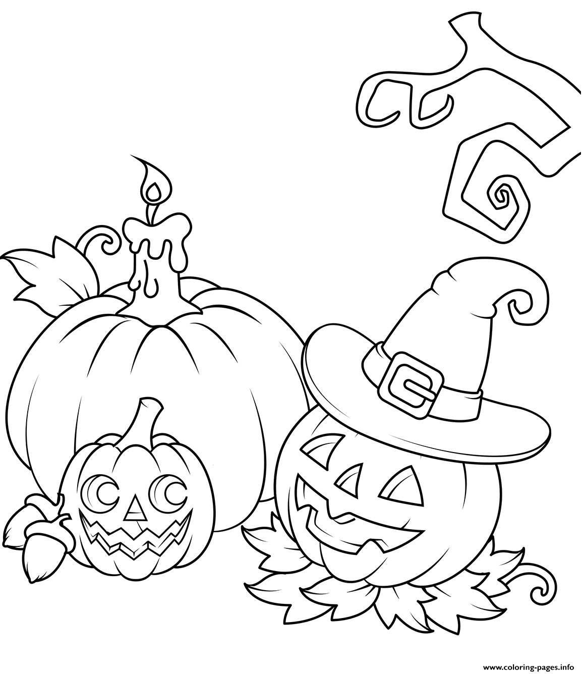 photograph relating to Printable Jack O Lanterns named Jack O Lanterns Halloween Coloring Webpages Printable