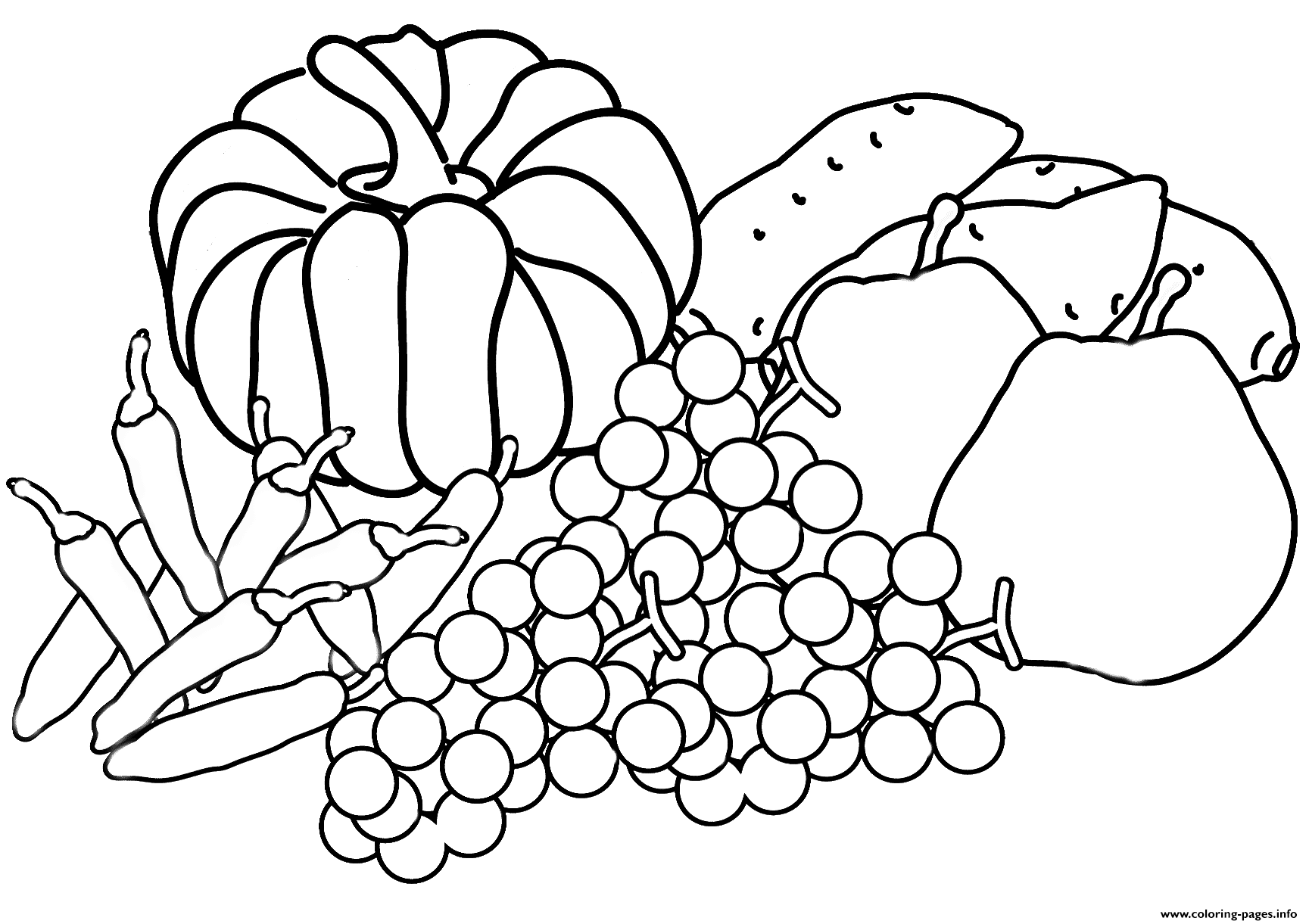 Autumn Harvest Coloring Page Fall