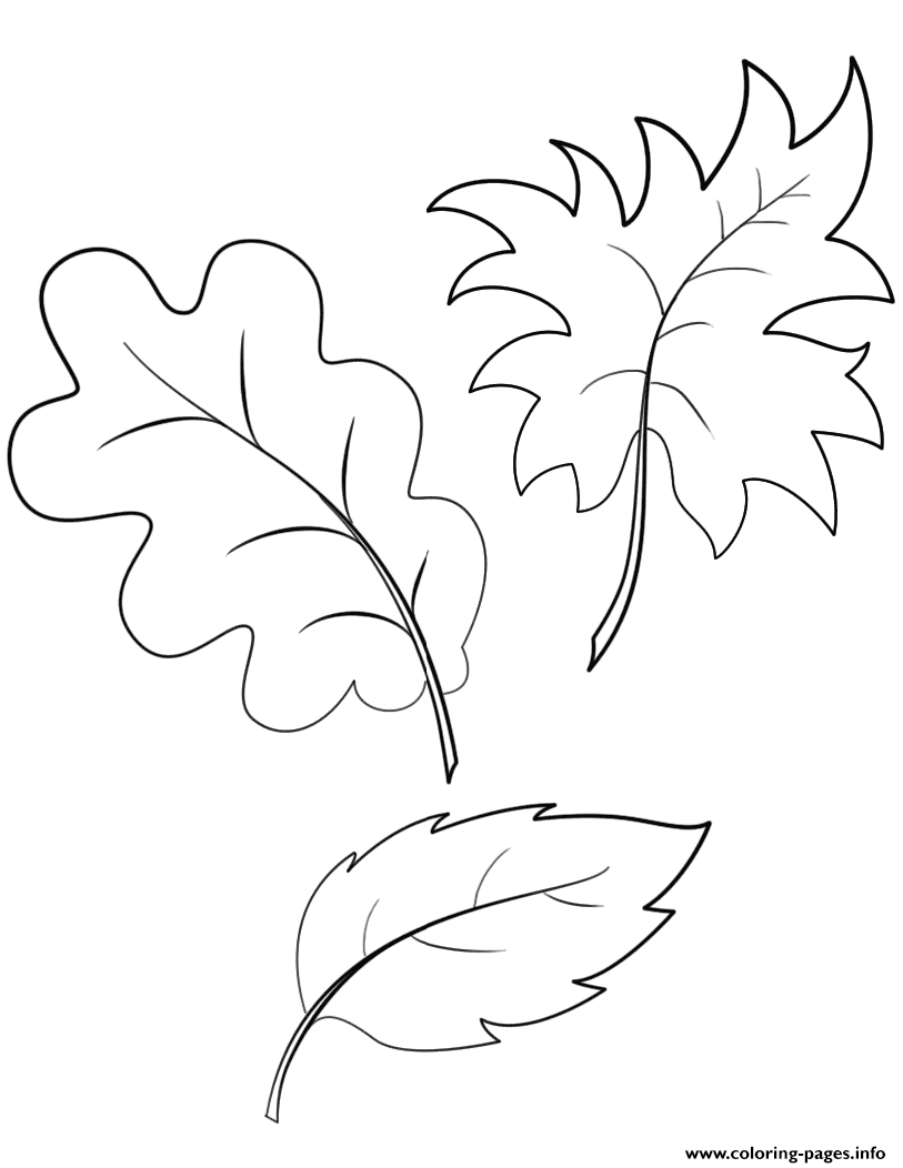Fall Autumn Leaves Coloring Pages