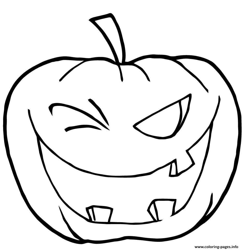 Halloween Pumpkin Winking Halloween Coloring Pages Printable