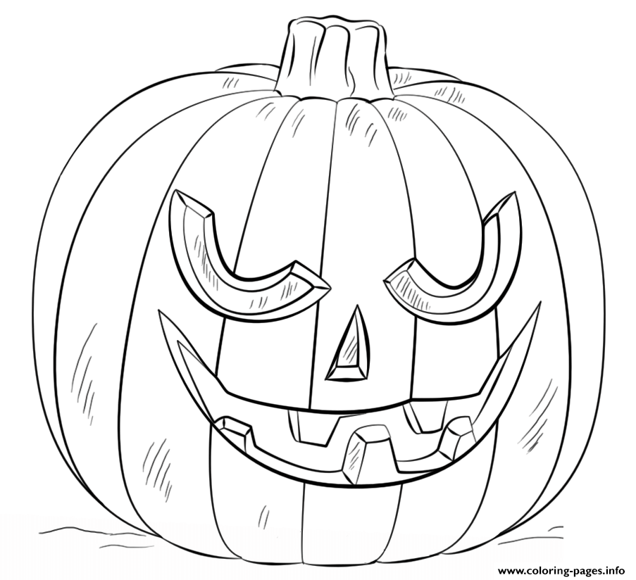 Jack O Lantern Scary Halloween Coloring Pages Printable