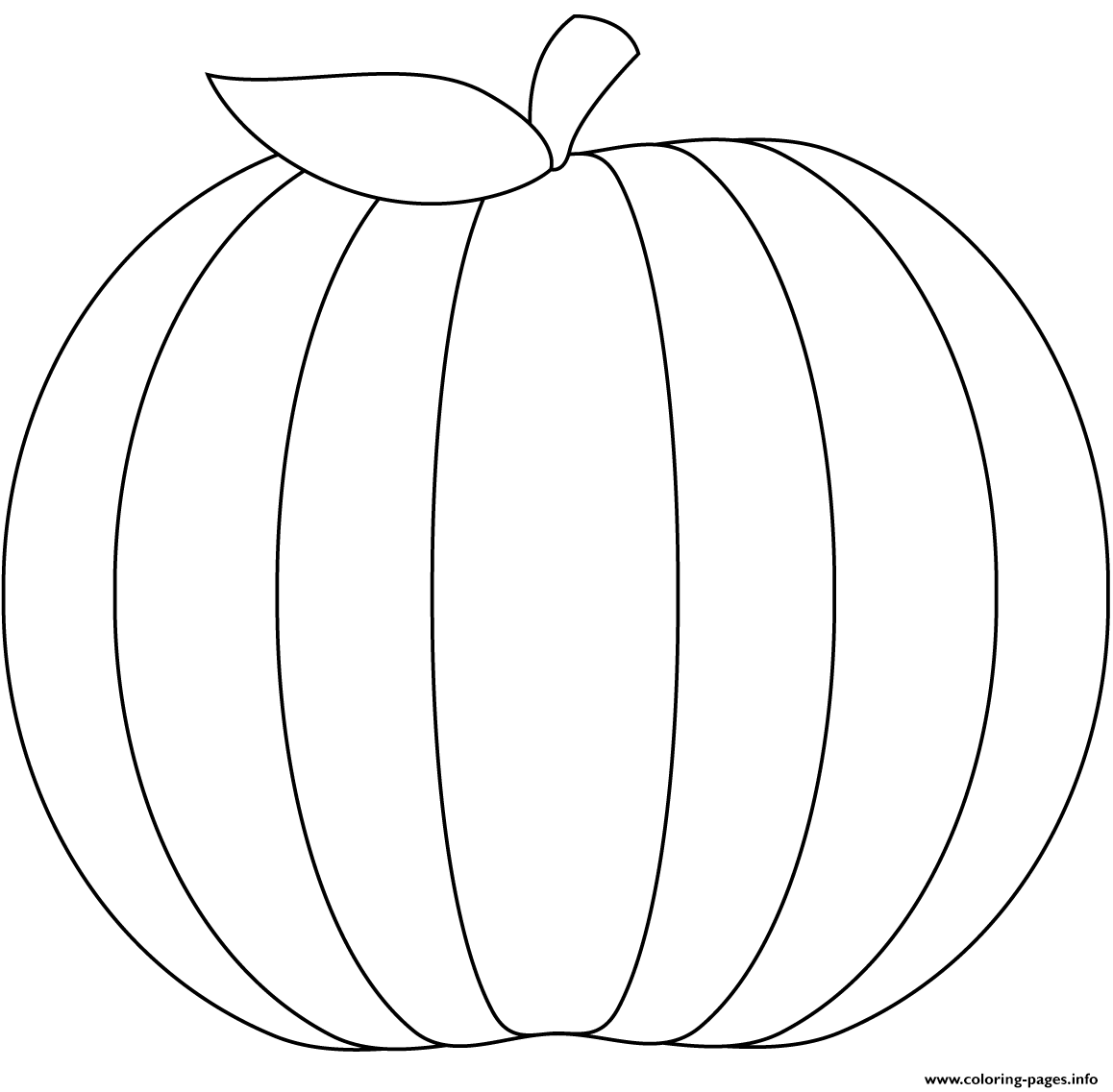 printable blank pumpkin coloring pages - photo#27