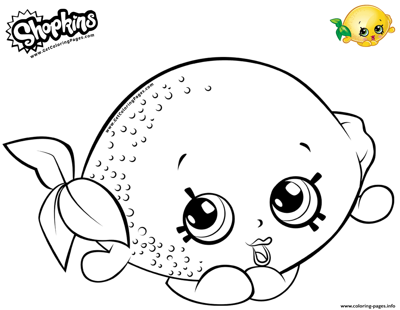 Cartoon Lemon Toy coloring pages