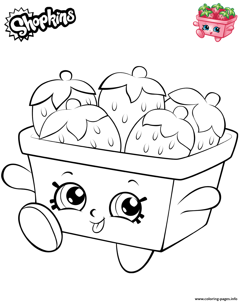 Strawberries Shopkins 2019 coloring pages
