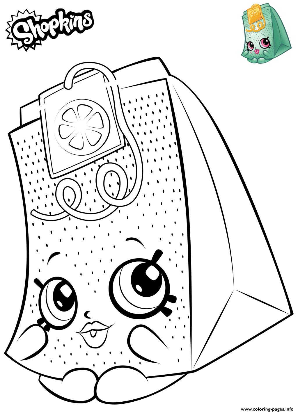 Teabag Shopkins coloring pages