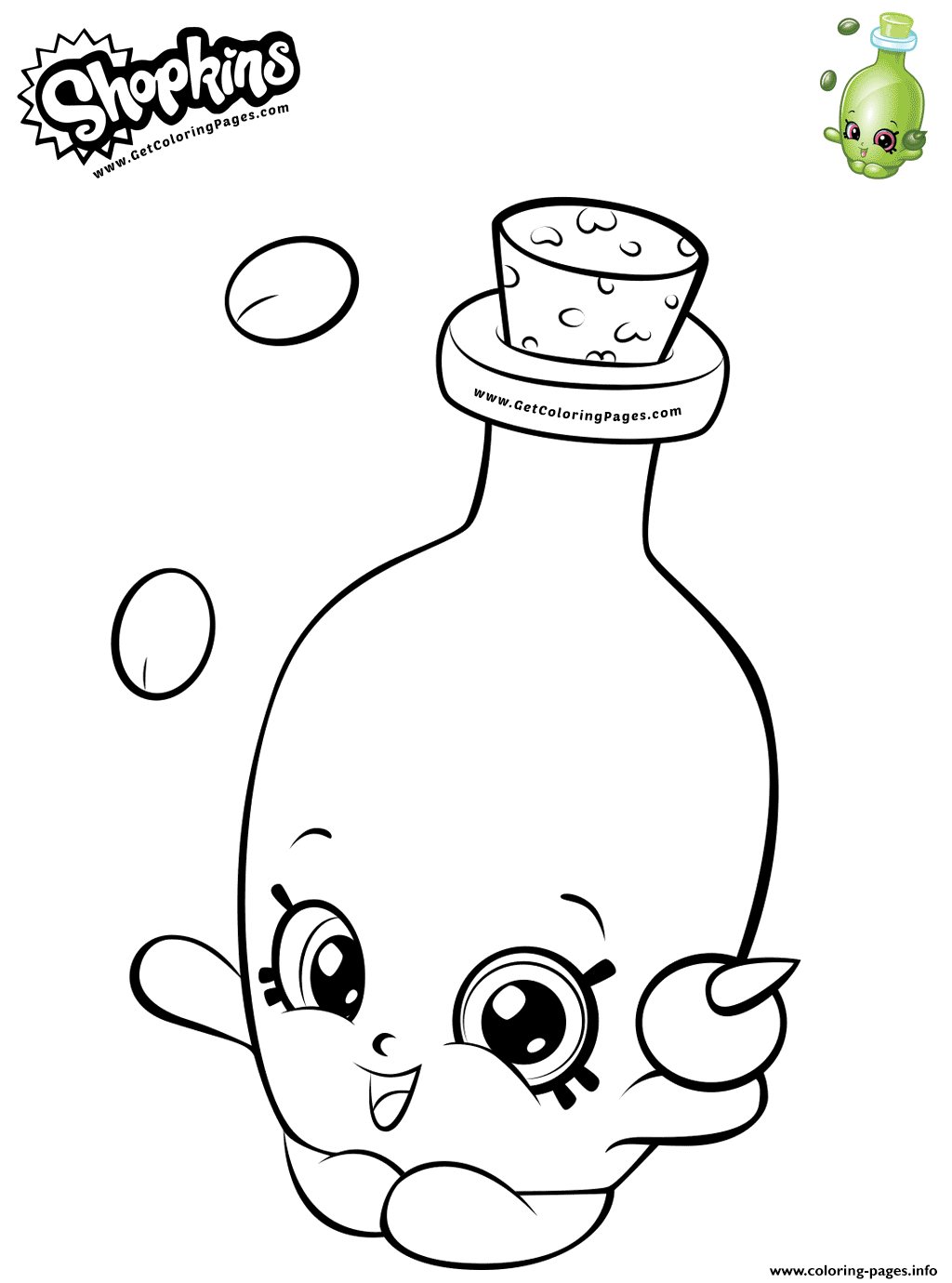 Easy Coloring Olive Oil Shopkins Coloring Pages Printable
