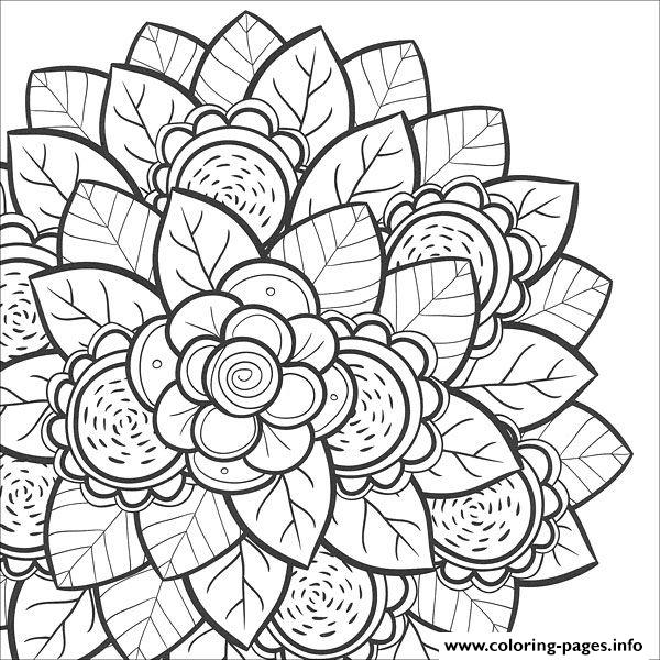 Mandala Flower For Teens Coloring Pages Printable