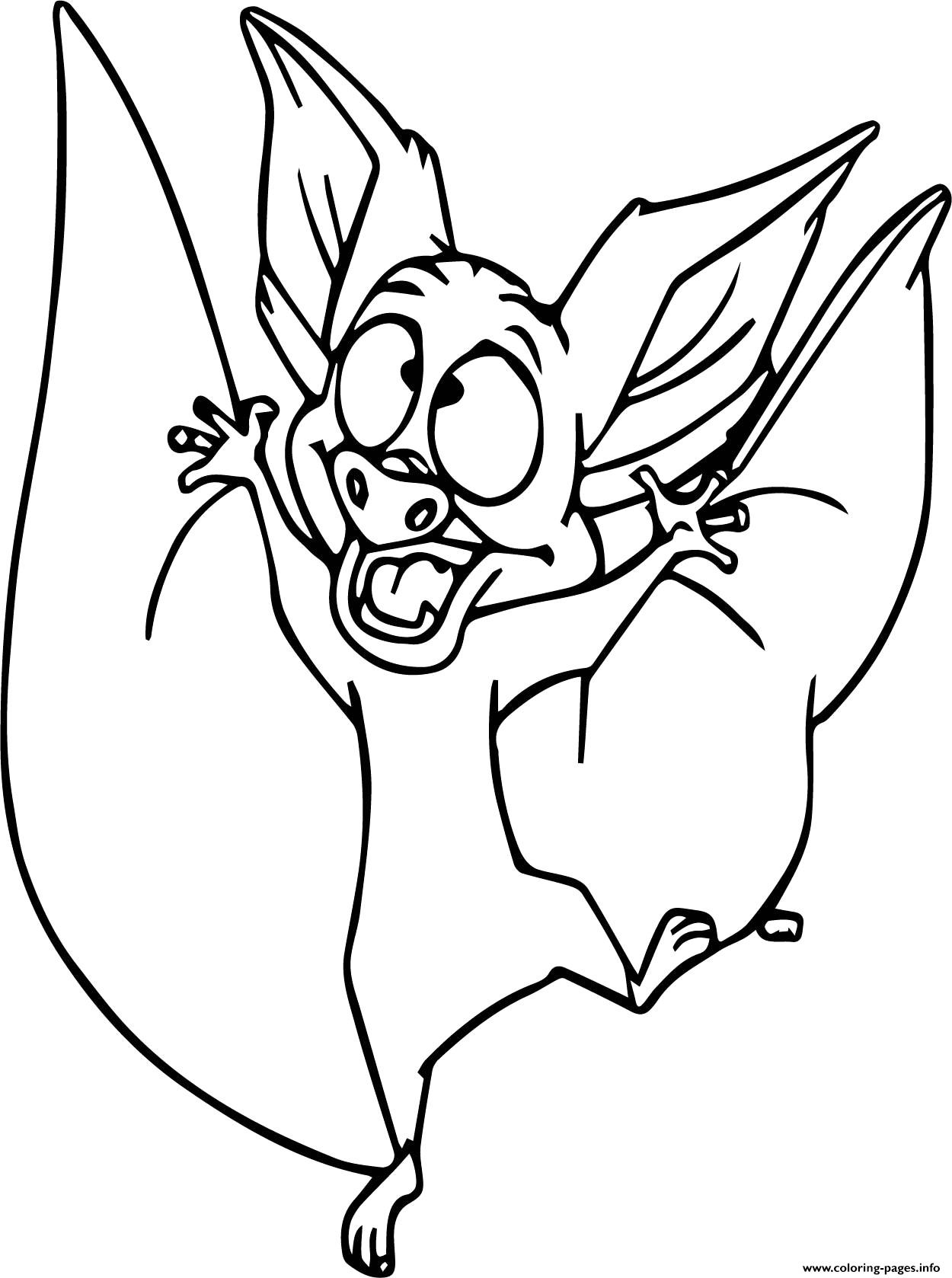 Bat Halloween Funny Coloring Pages Printable