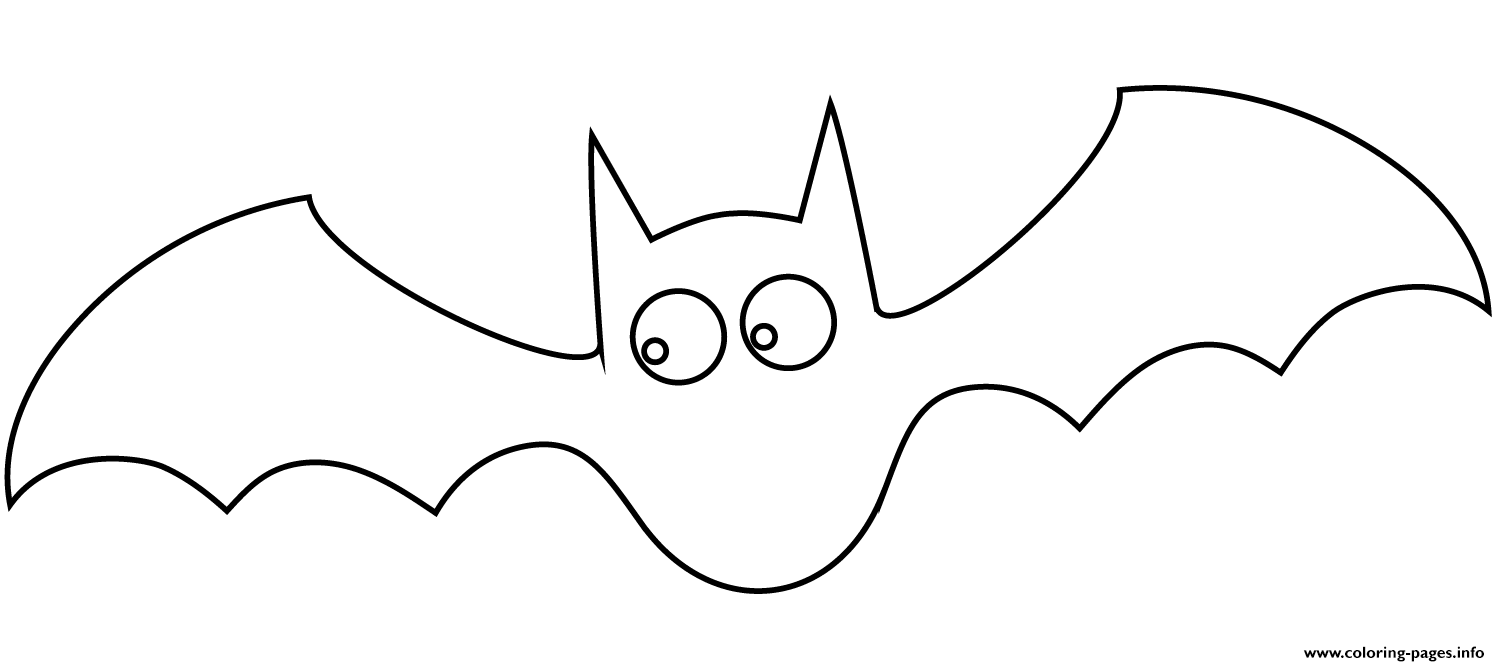 Bat Halloween Simple coloring pages