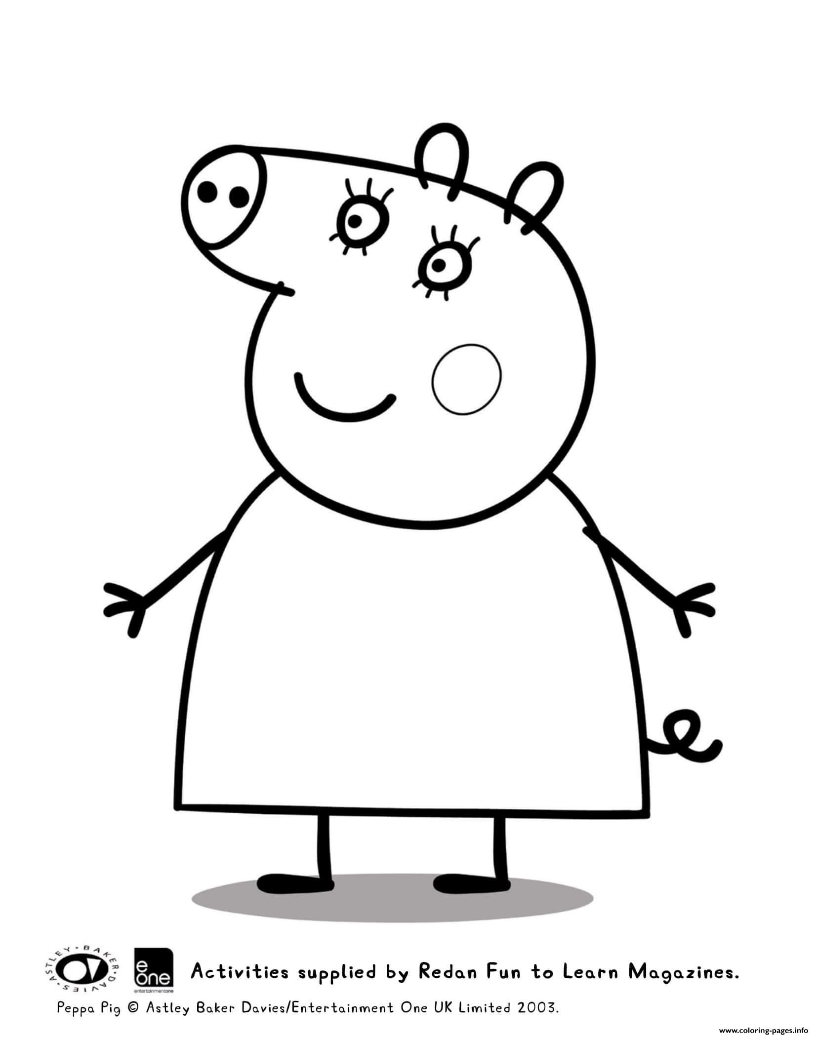 - Mummy Peppa Pig Coloring Pages Printable