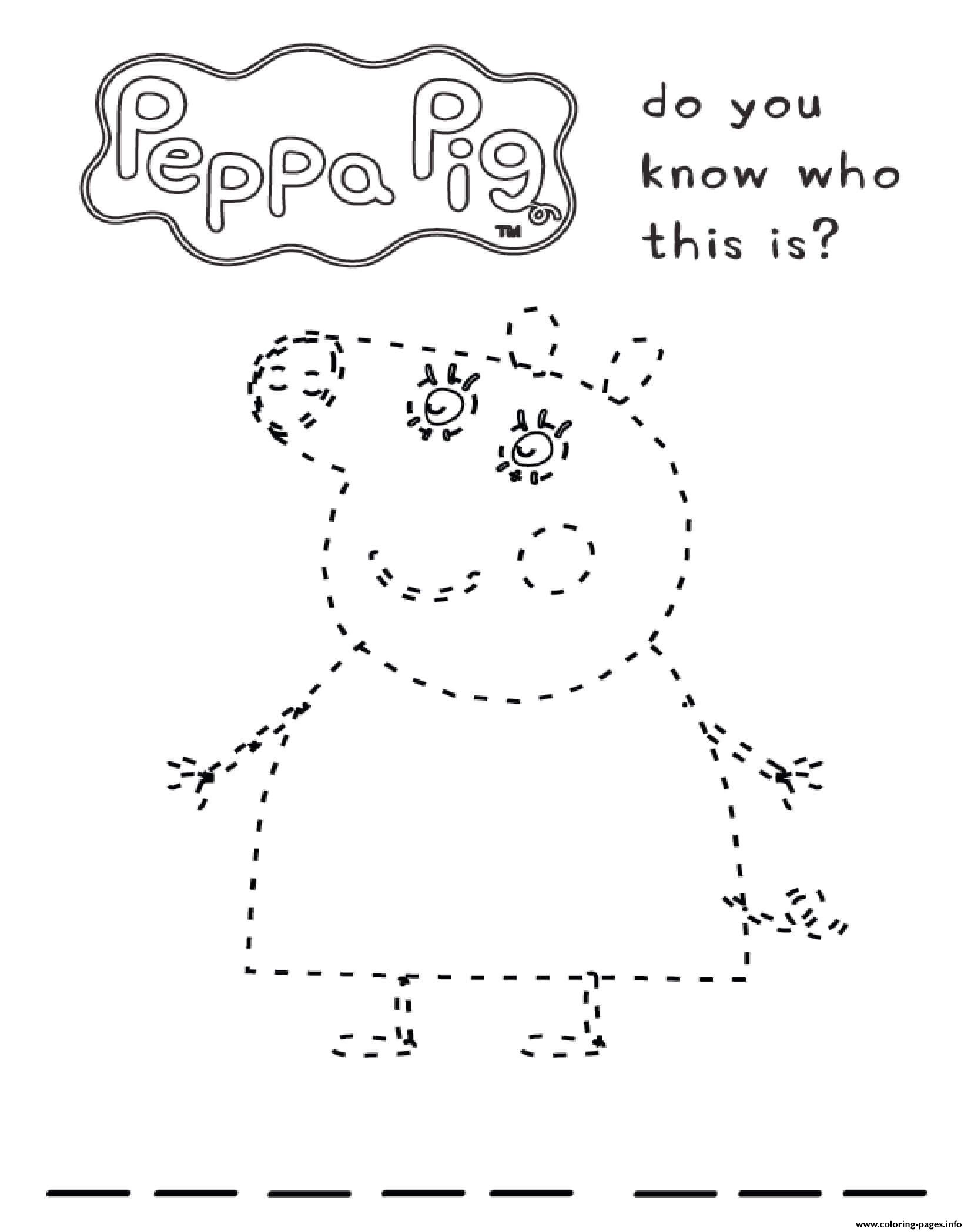 Do You Know Who This Is Peppa coloring pages