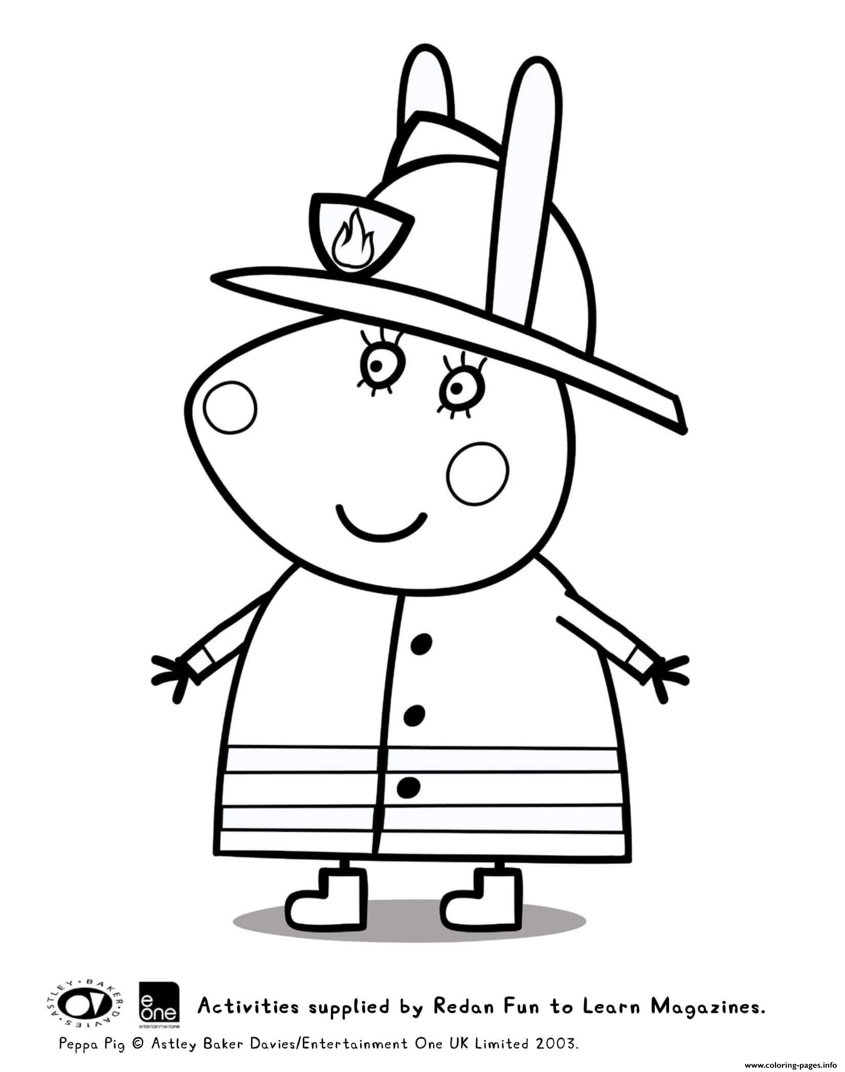 Miss Rabbit Peppa Pig coloring pages
