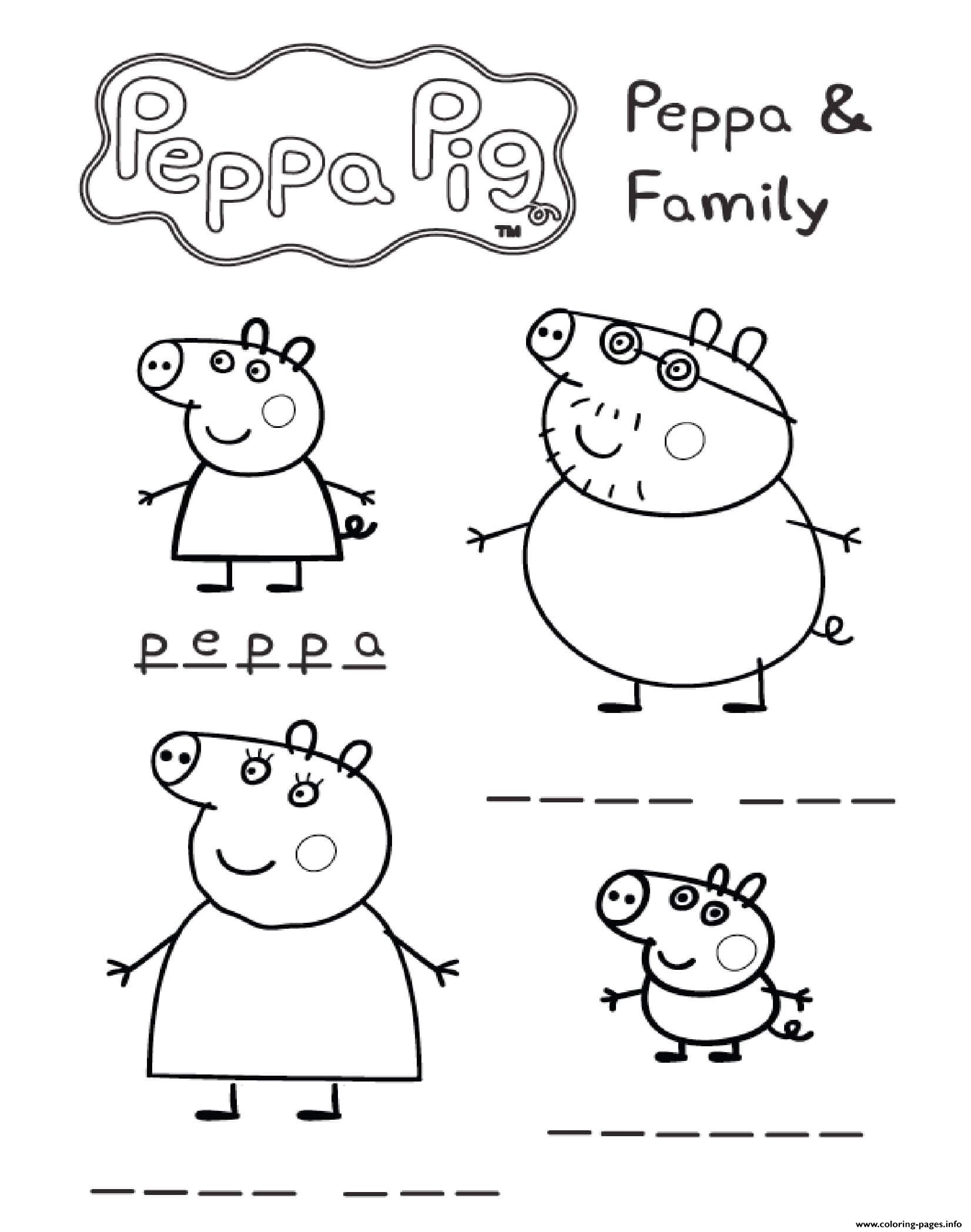 image regarding Printable Family Games identify Peppa And Household Online games Peppa Pig Coloring Web pages Printable