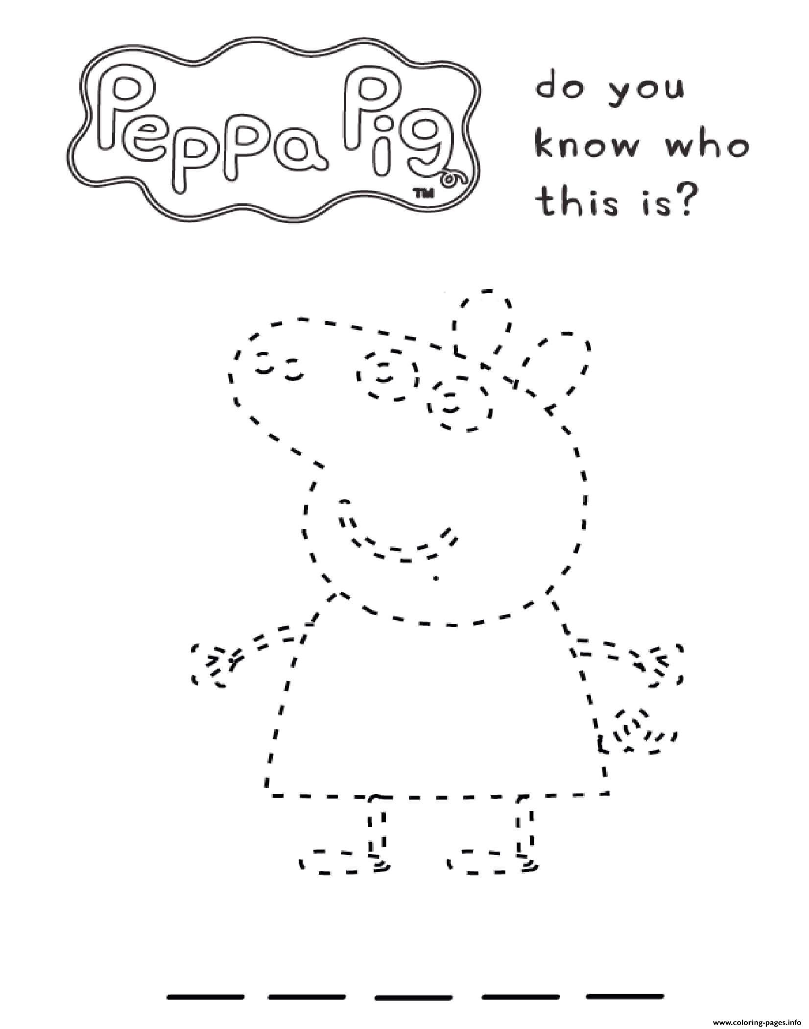 Peppa Pig Do You Know Who This