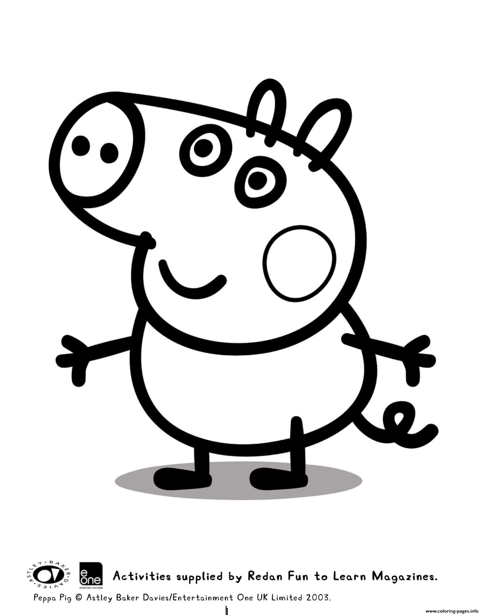 George Peppa Pig Coloring Pages Printable